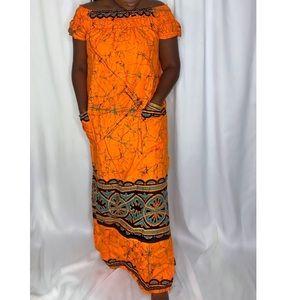 West African maxi dress
